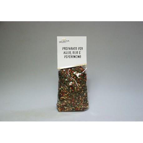 Preparato per aglio olio e peperoncino